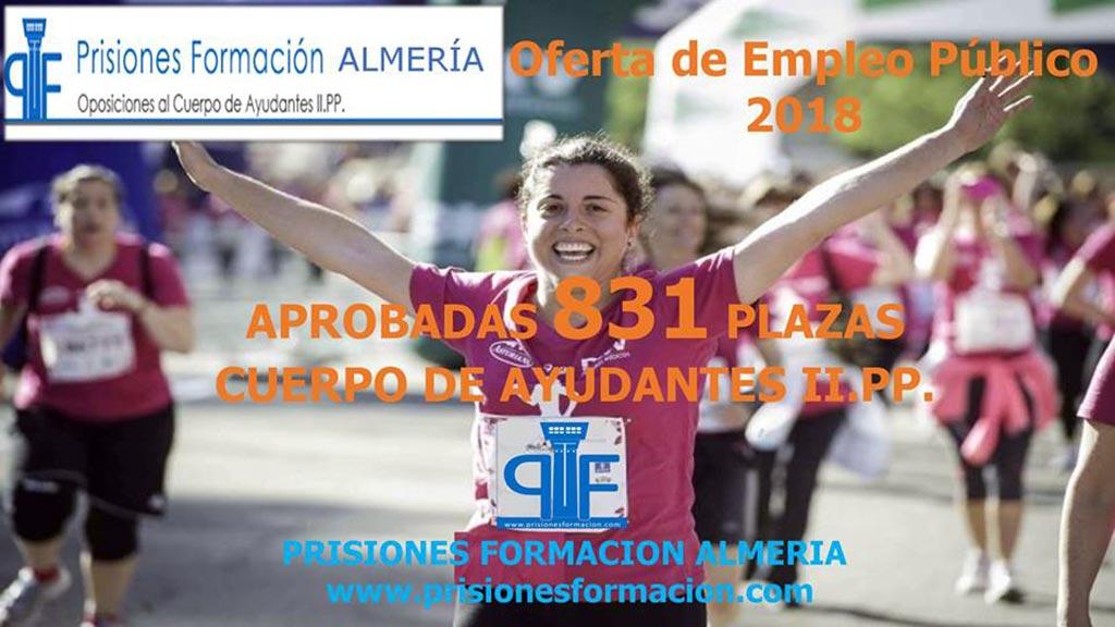 831 plazas para el Cuerpo de Ayudantes IIPP, OEP 2018