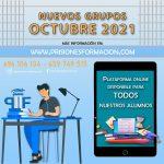 PRISIONES FORMACIÓN Nuevos grupos octubre 2021