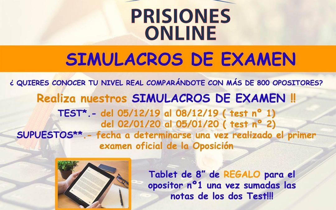 ¡INSCRÍBETE! Simulacros de examen en PRISIONES ONLINE
